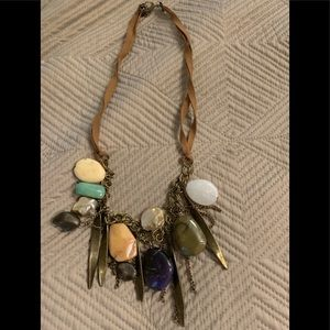 Lucky Brand necklace stone & metal